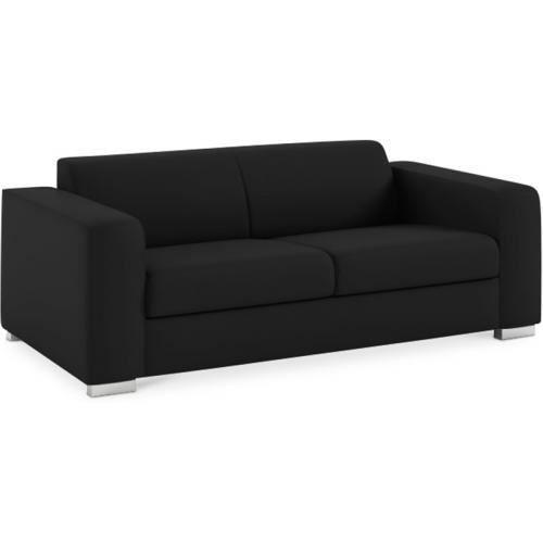 canap sofa divan canap bas 2 3 places minimaliste relax noir - Canape Bas