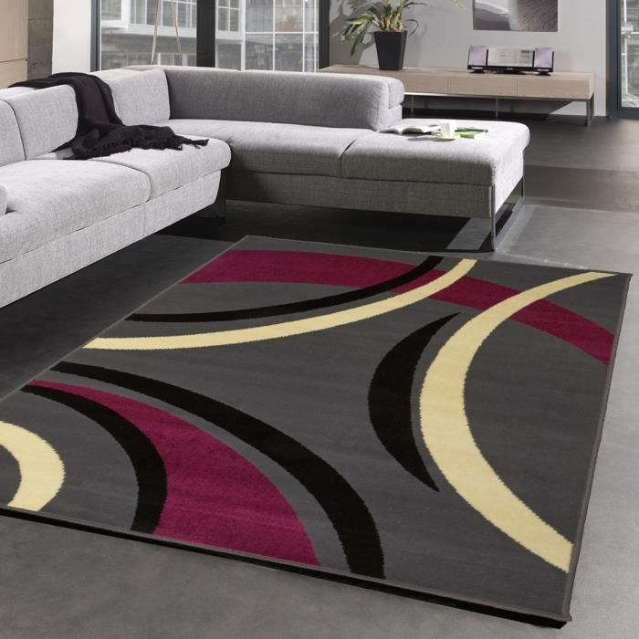 tapis joyle violet tapis moderne 120 x 160 cm achat vente tapis cdiscount. Black Bedroom Furniture Sets. Home Design Ideas