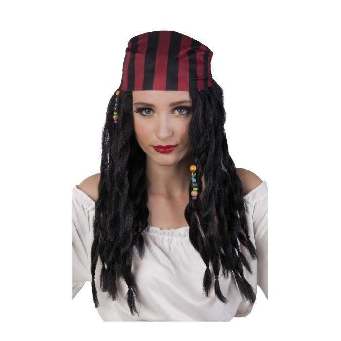 d4193fd13368 Perruque et bandana pirate femme - Achat   Vente chapeau - perruque ...