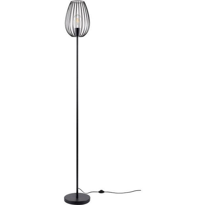 LAMPADAIRE MADDY Lampadaire en métal - Ø 22 x H 160 cm - Noir
