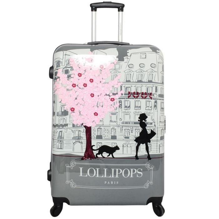 valise trolley lollipops paris 70cm gris achat vente. Black Bedroom Furniture Sets. Home Design Ideas