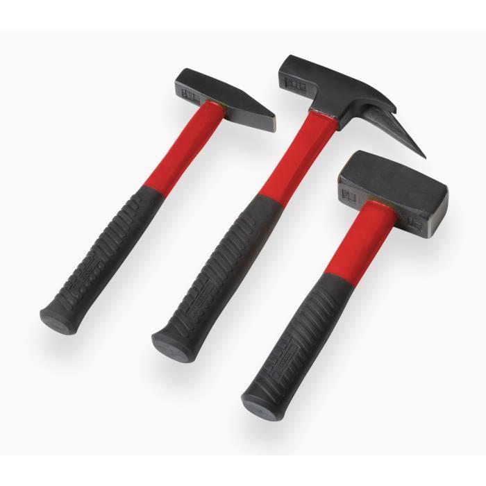 MARTEAU MEISTER Jeu 3 marteaux - manche fibre