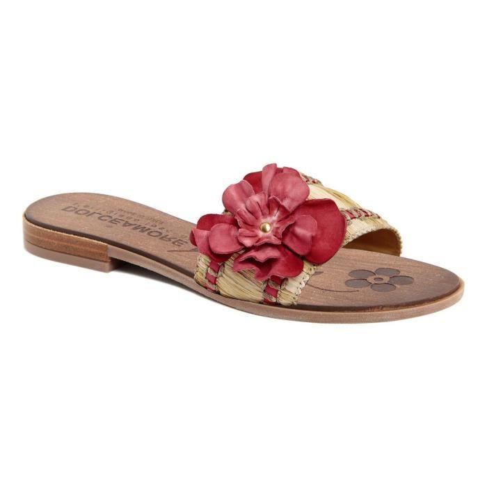 Sandales en cuir - rose