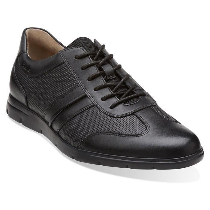 Clarks Tor Race Denner Hommes Brown en cuir tenue décontractée Oxfords Chaussures A22D2 Taille-39 1-2