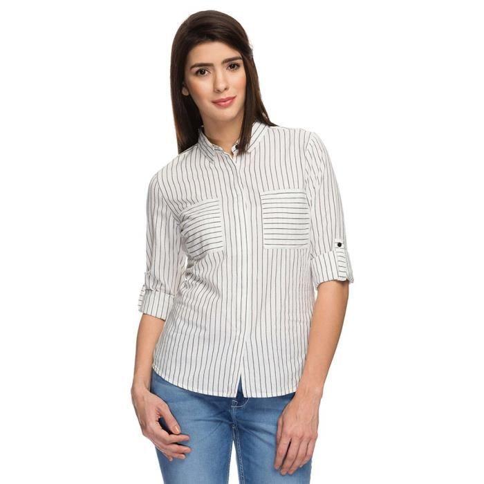 Poches Colleté Par Femmes À Chemise Stop Blanc Shoppers Deux 6Y6Tq0Rw