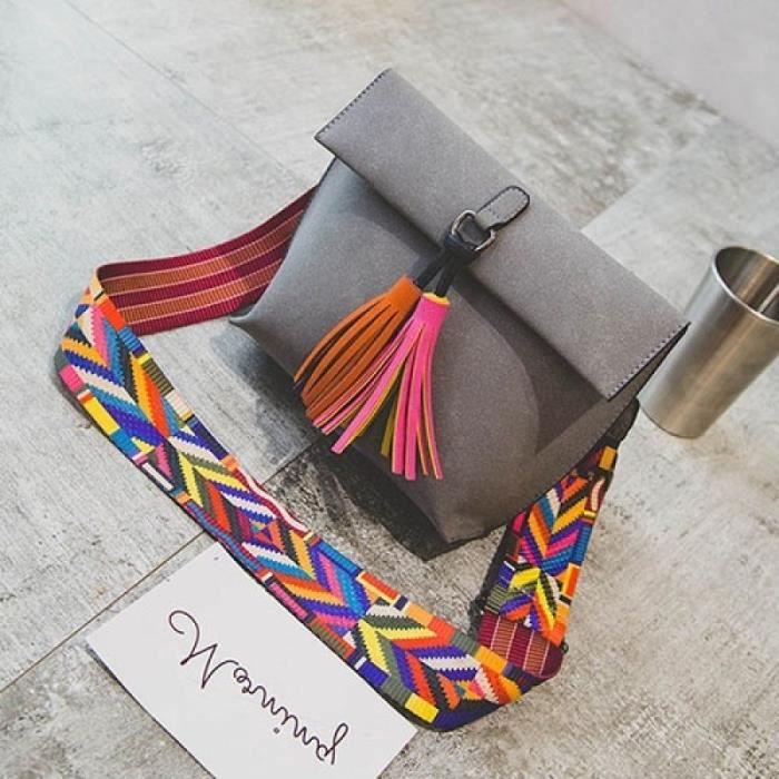 Femmes petites chaînes sac à main gris 21cm by 10cm by 20cmgris 21cm by 10cm by 20cm Femme rétro Tassel Sac à bandoulière bourse