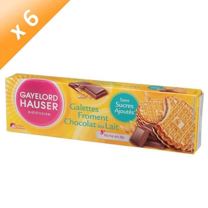 GAYELORD HAUSER Galettes Froment Chocolat au Lait - 120 g x6