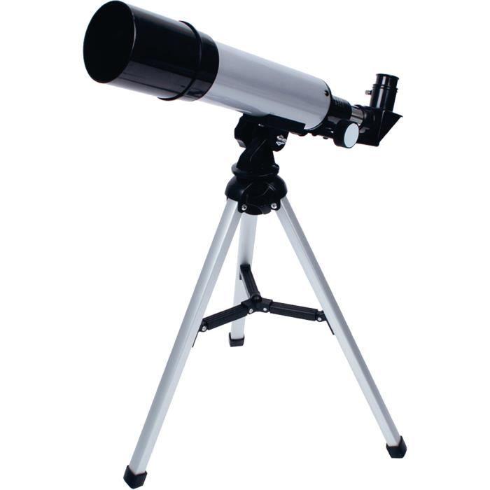 TÉLESCOPE OPTIQUE KONIG KN-SCOPE30N Télescope 50 mm - Noir et Argent