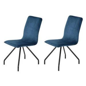 chaise linnea velvet lot de 2 chaises de salle manger - Chaise Scandinave Pied Metal