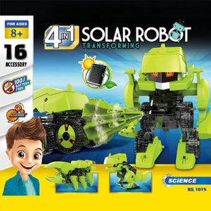ROBOT - ANIMAL ANIMÉ 4 en 1 bricolage Assemblez Robot insectes Dinosaur