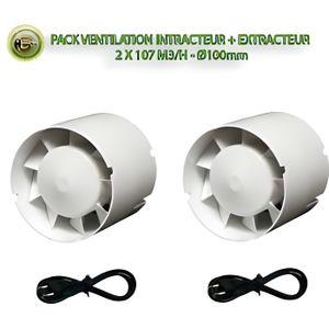 KIT DE CULTURE Pack ventilation - intracteur + extracteur - 2