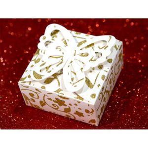 ENSEMBLE PÂTISSERIE 50 boîtes à gâteaux mariage baptême papillon motif