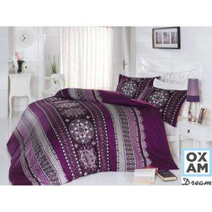 housse de couette 200x200 violet achat vente housse de couette 200x200 violet pas cher. Black Bedroom Furniture Sets. Home Design Ideas