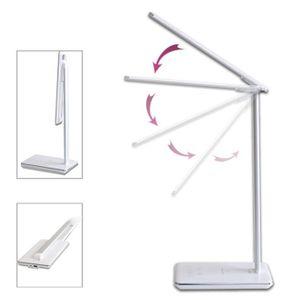 LAMPE A POSER Blanc Lampe de bureau tactile à DEL avec chargeur