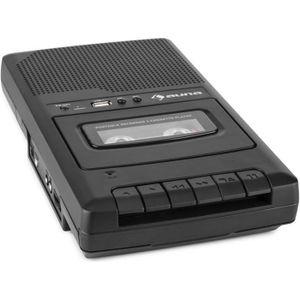 DICTAPHONE - MAGNETO. auna RQ-132USB Lecteur cassette portable dictaphon