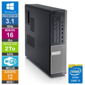 UNITÉ CENTRALE  PC Dell Optiplex 790 DT I5-2400 3.10GHz 16Go/2To W