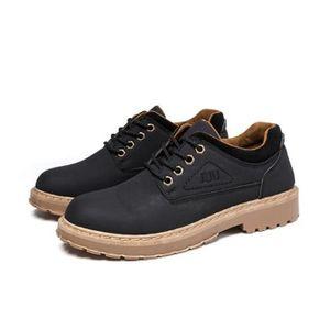 29ce4d5945464a BOTTINE Bottines en Cuir Homme Boot Chaussures Noir