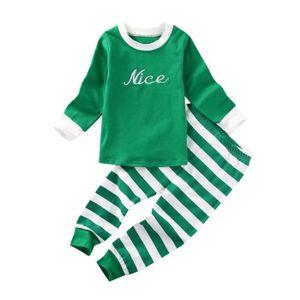 Ensemble de vêtements anonywe Enfants Noël Bébés filles garçons Hauts-le ... 32342fcce74