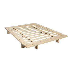 FUTON Structure futon japan en bois naturel 160x200 - Te