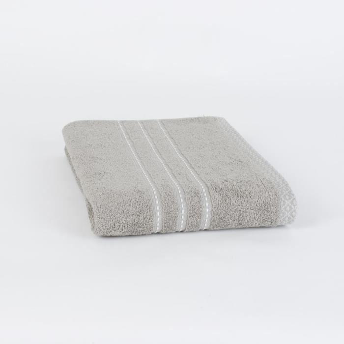 70x140cm MIEL - 100% Coton 420gr/m² - Beige - Production BelgeSERVIETTE DE BAIN - DRAP DE BAIN