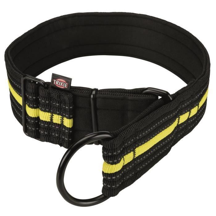 TRIXIE Collier semi-étrangleur Sporting Fusion L–XL : 48–58 cm-50 mm - Noir et jaune - Pour chien