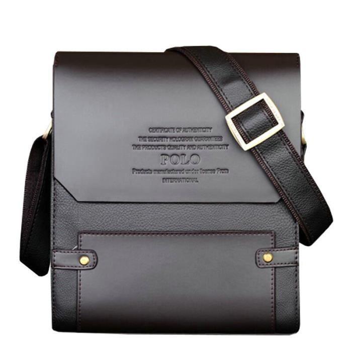 besaceMarque Hommes sac en cuir Casual Bag Vintage Porte-documents classique homme daffaires épaule-1553