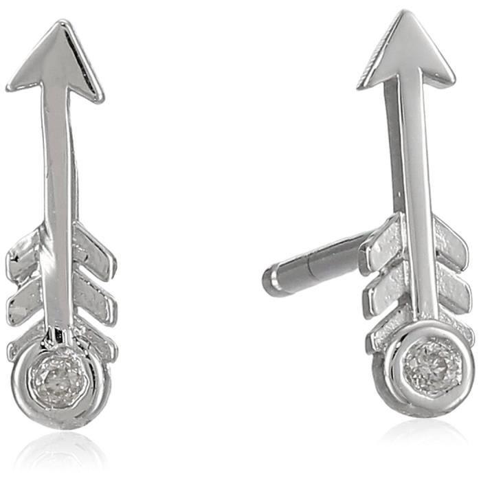 Arrow Stud Earrings With Diamond Bezel U5ALU