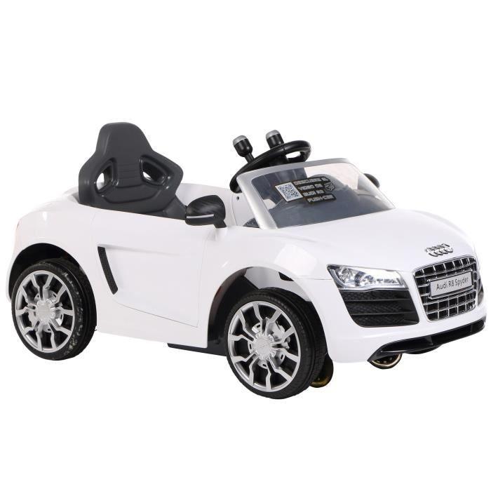 Voiture Cabrio Blanc Électrique Rollplay Audi 3AjRqSc45L
