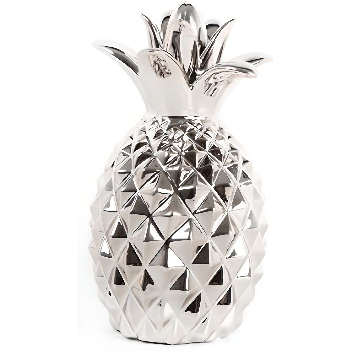 ananas argent d co 14 x 24 cm achat vente d coration