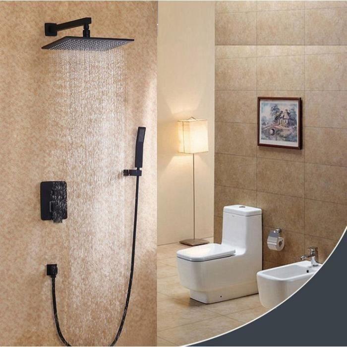 Ensemble de douche Moderne douchette intégré noir - Achat / Vente ...