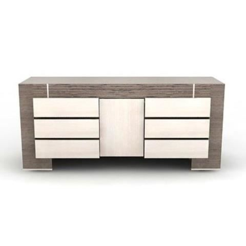 buffet design moderne 6 tiroirs chene gris cremona achat vente buffet bahut buffet. Black Bedroom Furniture Sets. Home Design Ideas