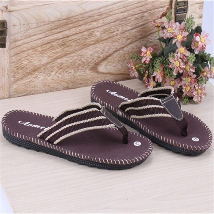 chaussure homme Confortable Pantoufle Chaussure Home Slippers de grandes chaussures de taille Nouvelle mode décontractée NoZwiMPd