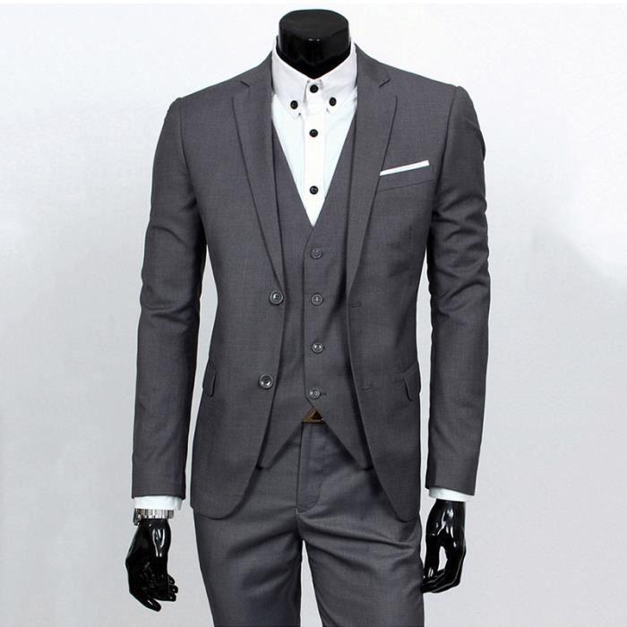 COSTUME - TAILLEUR Costumes Homme Marié Mariage Affaires Trois Pièces cf78f06d7e3