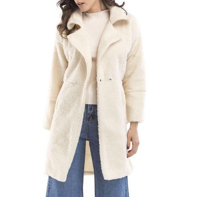 db9760582c0b3 ... fourrure chic et à la mode Vêtements moyens Manteau Blanc. PARKA Femme-Fille  Parka d'Hiver chaud et épais en fausse