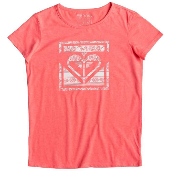 ef6cc03ce3e93 ROXY Galaxy Tropical T-Shirt Mc Fille - Taille 14 ans - ROSE Rose ...