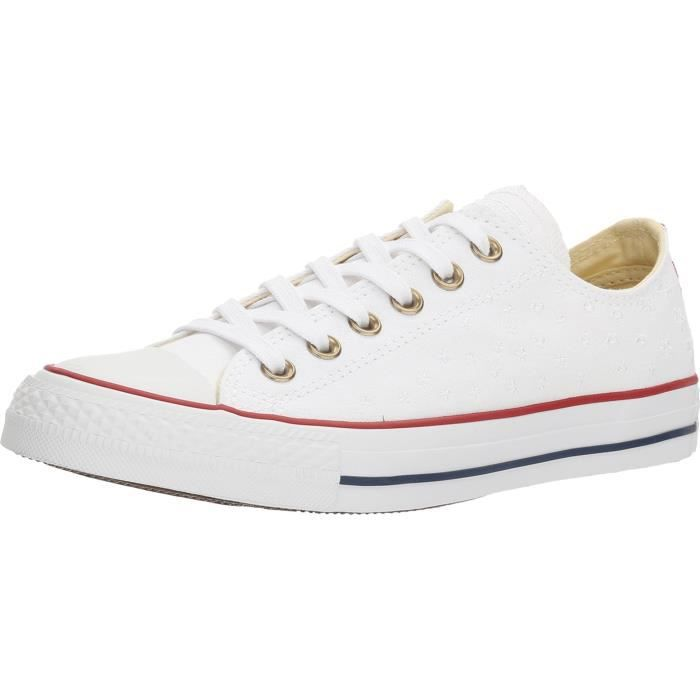 Converse Womens Chuck Taylor All Star Low Sneakers White-casino-white Womens HW9NS Taille-36 1-2