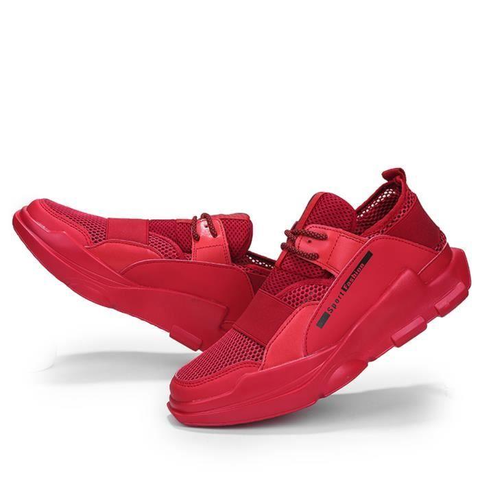 Résistantes Extravagant Sandales L'usure Respirant Antidérapant Chaussures Hommes À Noir rouge Xsh blanc wYYpRq41