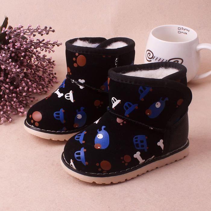 BOTTE Hiver bébé fille Chaussures en cuir pour enfants C