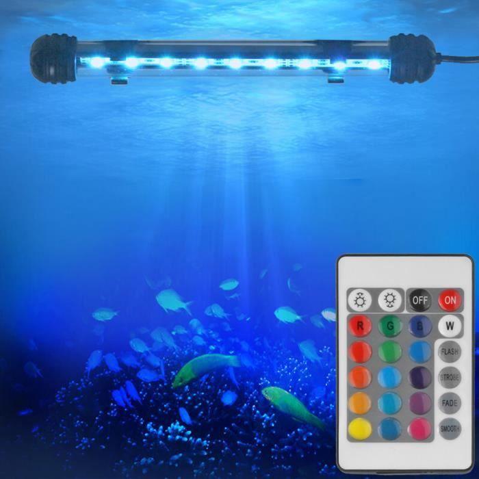 Rgb t l commande 9 led lumi re d 39 aquarium submersible for Vendeur aquarium
