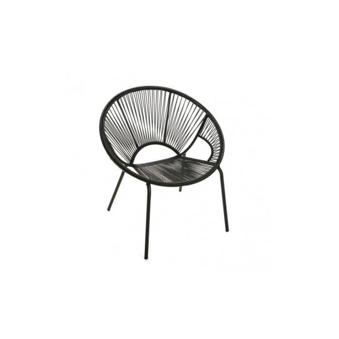 Design Achat Vente Cordage Noir Fauteuil Assise Yucatan wkX0P8nO