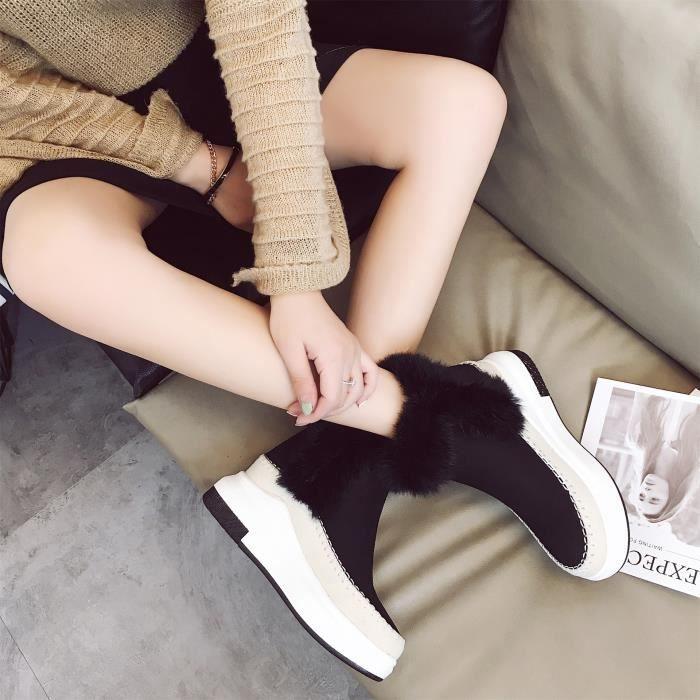 Bottes décontractées pour femmes bottes enneigées