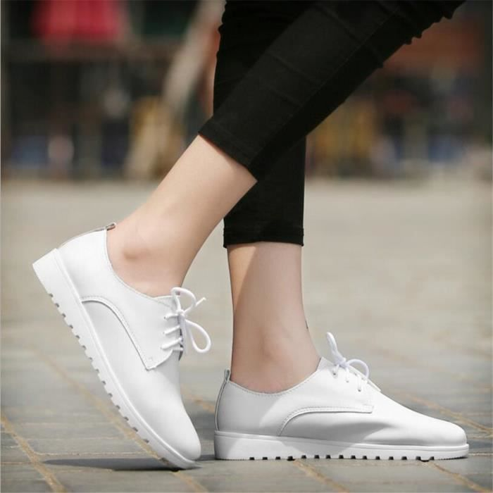 Chaussures Femmes Cuir Occasionnelles Comfortable Chaussure BTYS-XZ042Blanc40 WHHP3x8s2