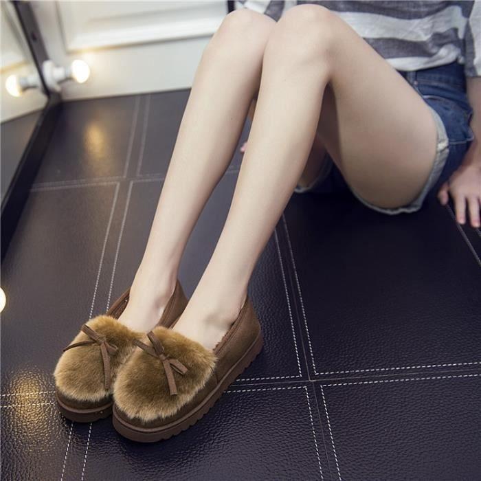chaussures pantoufles en coton d'hiver semelles de coton arc chaud pantoufles épais dames mode pantoufles en,noir,37