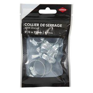 COGEX Collier de serrage acier zingue - ? 13 a 23 mm - 8 pcs
