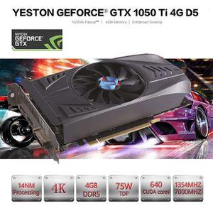 CARTE GRAPHIQUE INTERNE 2020 Yeston GeForce GTX GPU 1050Ti 4 Go GDDR5 128
