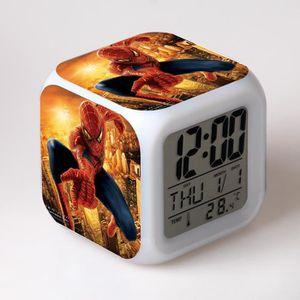RÉVEIL ENFANT Spider-Man saut les enfants jouet réveil horloge m