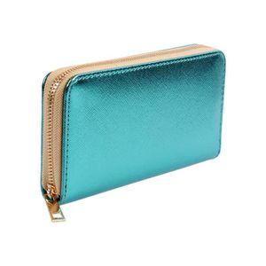 Portefeuille Porte monnaie idée cadeau pour femme fille couleur uni ... d5a0a66acbc