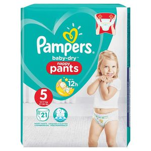 COUCHE Pampers Baby-Dry 21 Couches-Culottes Taille 5 (12-