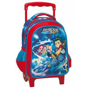 CARTABLE Sac à roulettes trolley maternelle Beyblade Burst