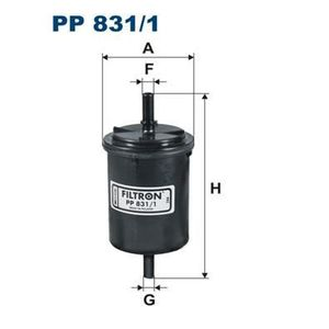 FILTRE A CARBURANT FILTRON Filtre à carburant PP831/1